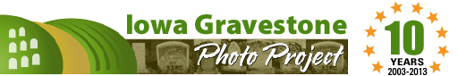View Gravestone Photos from across Iowa